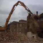 Demolished Bedford Hospital, North Wing